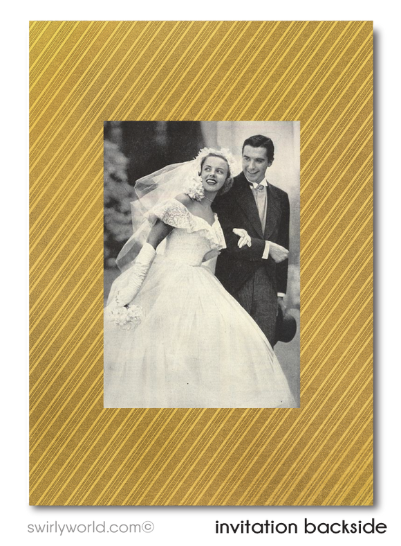 Cheers to 50 Years Black and Gold 50th Wedding Anniversary Party Invitation Digital Download