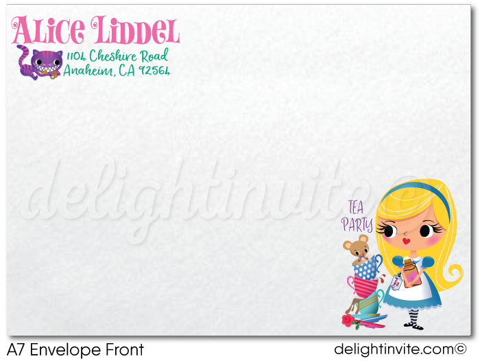 Alice in Onederland 1st Birthday Tea Party Invitations