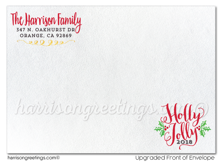 Calligraphy Vintage Merry Christmas Holiday Photo Cards