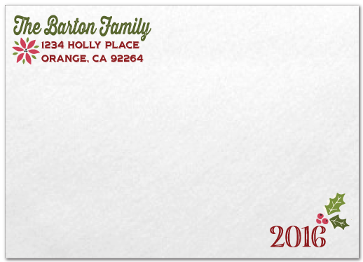 Rustic Vintage Season's Greetings Holiday Family Photo Cards Printed