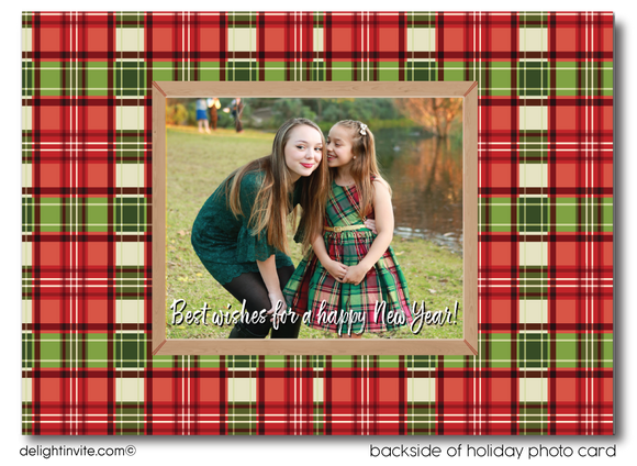Rustic Woodsy Merry Christmas Holiday Photo Cards