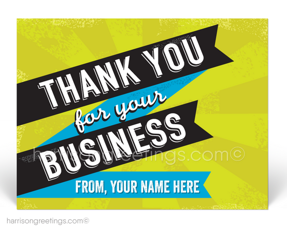 Vintage Retro Thank You Postcards for Business