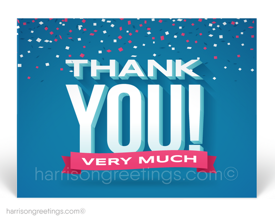 Corporate Thank You Client Postcards