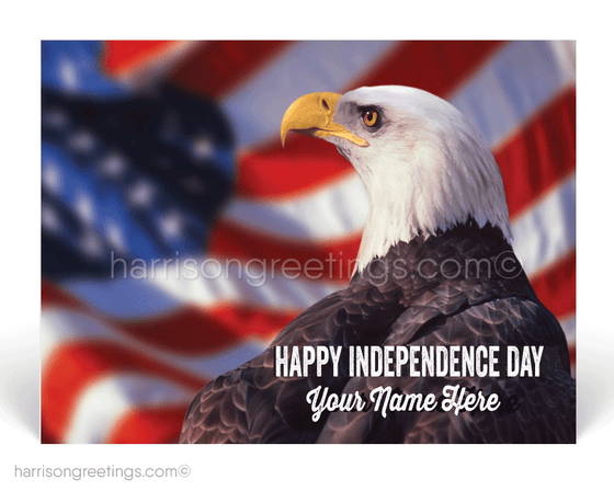 American Bald Eagle Happy Independence Day Postcards