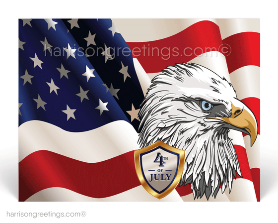 American Eagle Happy Independence Day Postcards