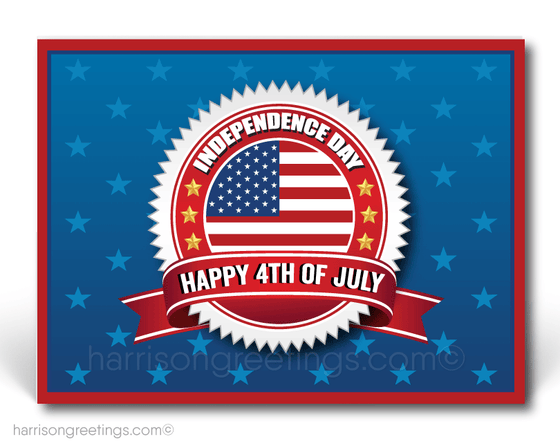 Happy Independence Day Postcards for Business
