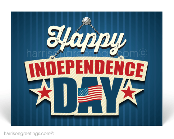 Happy Independence Day Postcards