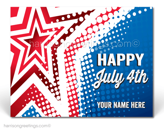 Patriotic Happy 4th of July Postcards