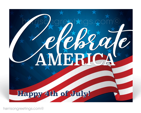 Happy 4th of July Postcards for Clients