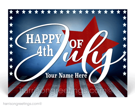 Happy Fourth of July Postcards for Customers