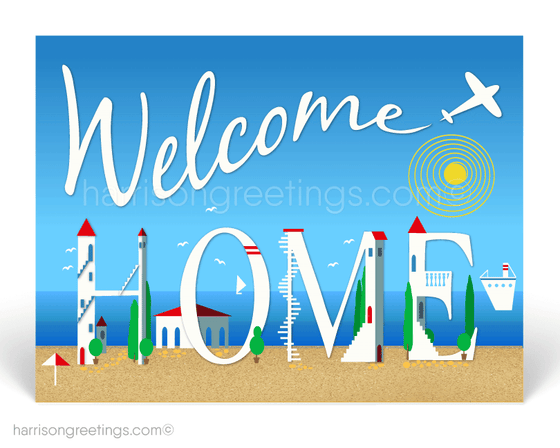 Welcome Home Postcards for Clients from Realtor