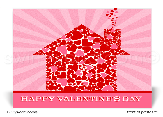 Happy Valentine's Day postcards for Realtors and Real Estate Agents