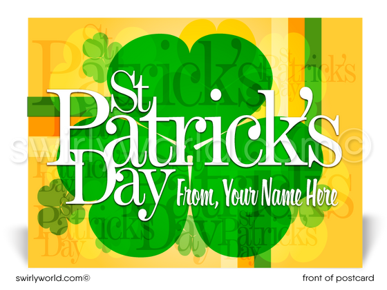 Business Happy St. Patrick's Day Postcards for Customers