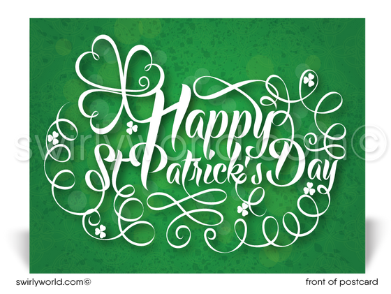 Professional Business Client Happy St. Patrick's Day Postcards