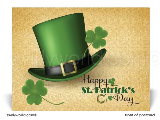 Leprechaun Corporate Business Happy St. Patrick's Day Postcards