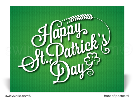 Professional Corporate Business Happy St. Patrick's Day Postcards