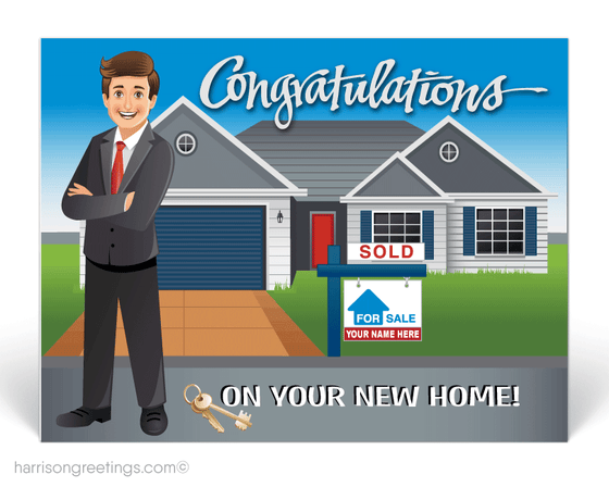Congratulations on New Home Postcards for Realtors