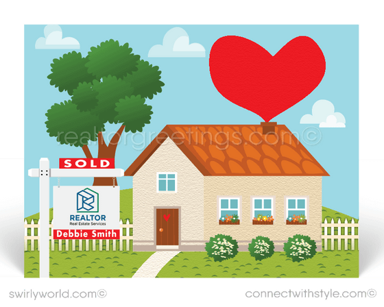 cute home house with hearts for realtors