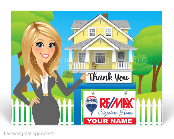 female blonde realtor