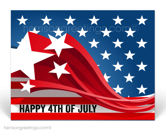 Corporate Happy 4th of July Postcards