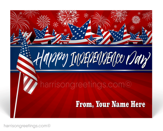 Business Happy July 4th Postcards