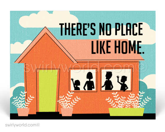 Retro Mid Century Modern Home Design for Realtors. There's no place like home. Stay Safe.