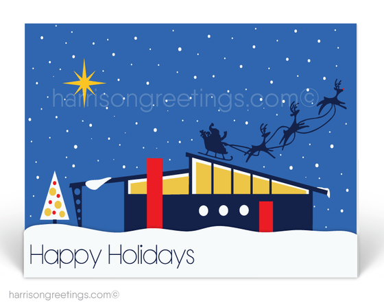 happy holidays from your retro modern realtor! Eichler home on Christmas.