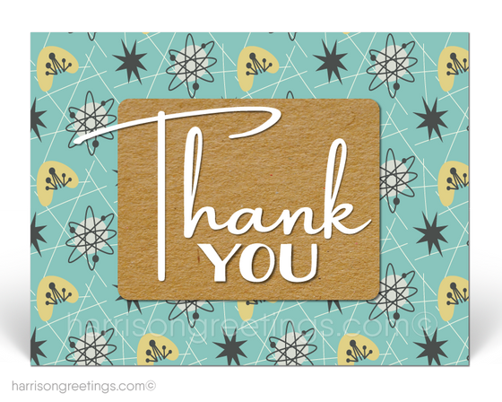 Retro Modern Thank You Postcards for Business