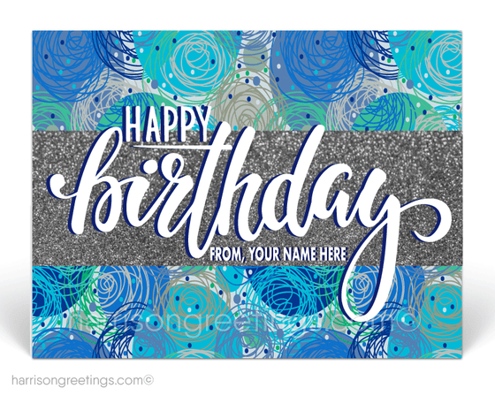 Happy Birthday Postcards for Customers