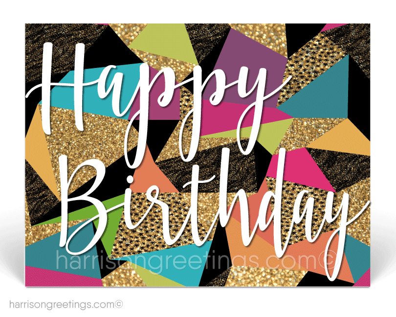 Business Happy Birthday Postcards for Customers