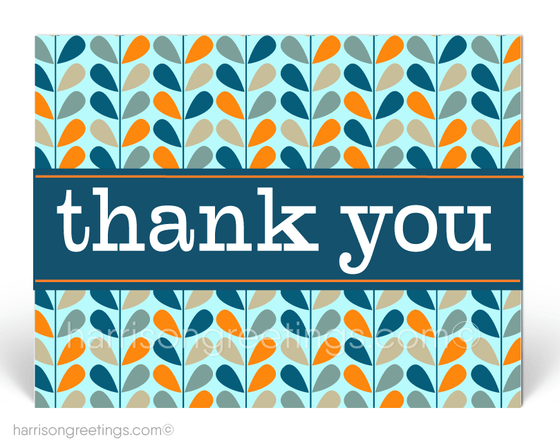 Retro Modern Thank You Client Postcards