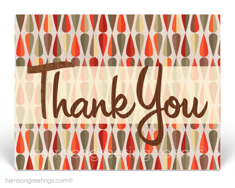 Retro Atomic Mid-Century Modern Thank You Postcards for Clients