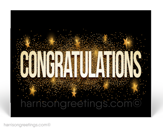 Congratulations Postcards for Business Professionals