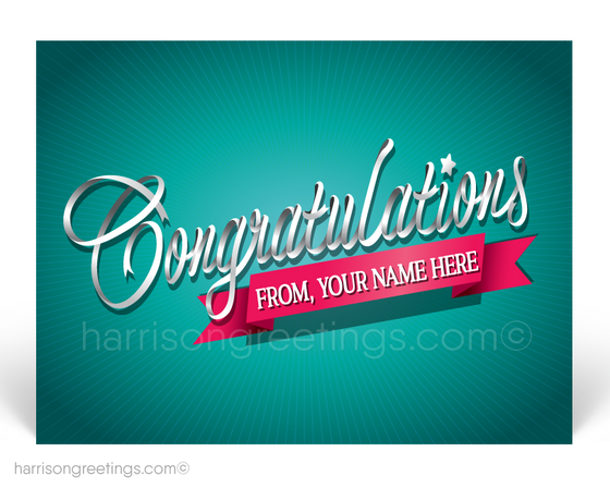 Retro Modern Congratulations Postcards for Business