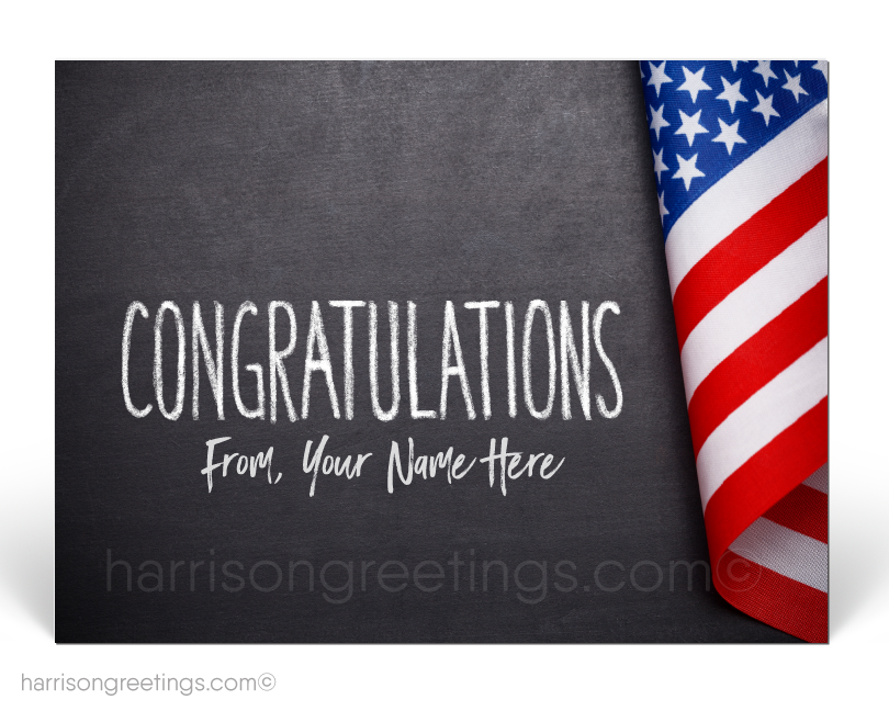 Patriotic American Congratulatons Postcards