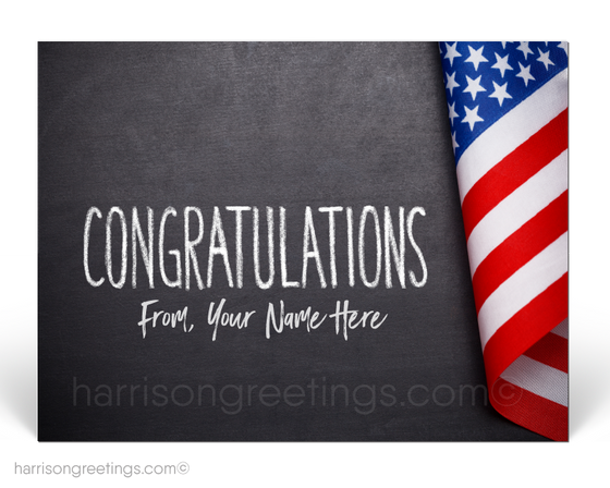Patriotic American Congratulations Postcards for Business