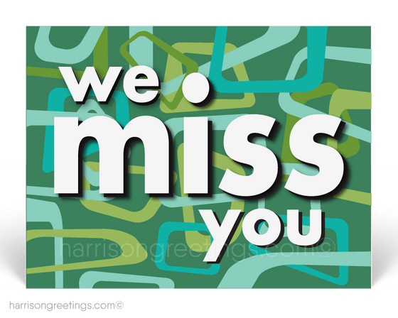 We Miss You Postcards for Business