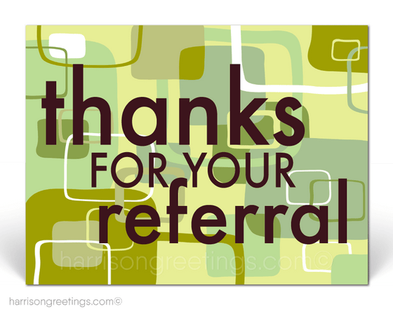 Thank You For Your Referrals Postcards