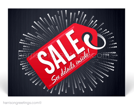 Sale Coupon Marketing Postcards for Customers