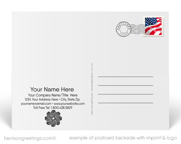 Corporate Happy Independence Day Postcards
