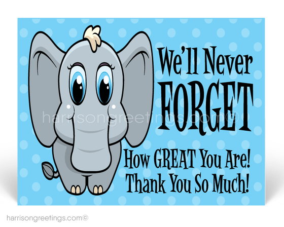 "We Will Never Forget To Say ""Thank You"" Postcards"