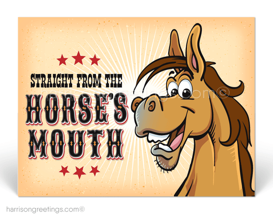 Straight From the Horse's Mouth Announcement Postcards