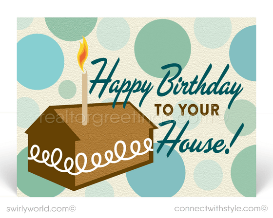 happy birthday to your house home anniversary cards