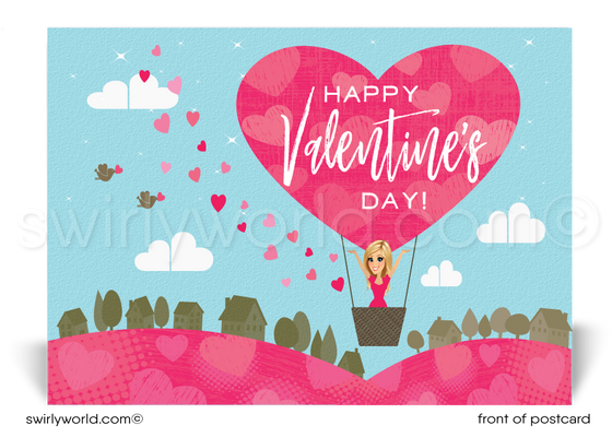 Unique Happy Valentine's Day Postcards for Realtors