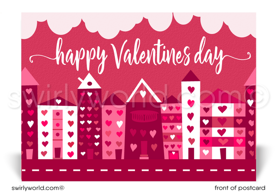 Adorable Happy Valentine's Day Postcards for Realtors