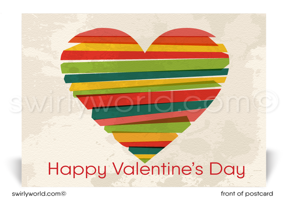 Business Corporate Happy Valentine's Day Postcards