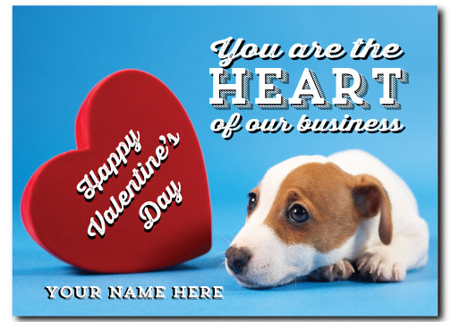 Cute Dog Valentine's Day Postcards