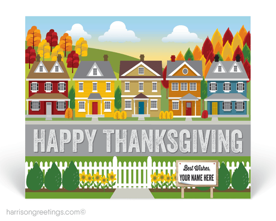 Happy Thanksgiving Postcards for Realtors