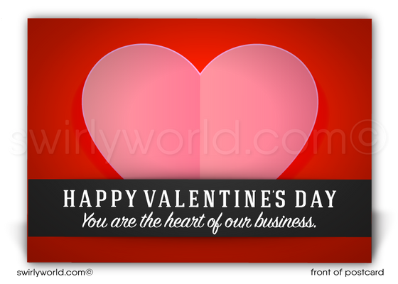 Professional Business Happy Valentine's Day Postcards for Realtors