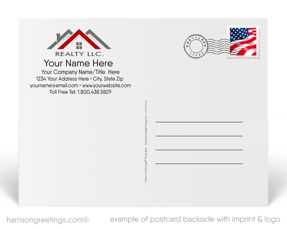 Happy House Anniversary Postcards for Realtors